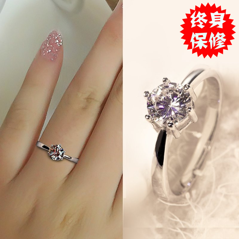 Emulation Diamond ring 925 Silver Ring Women Japan and South Korea