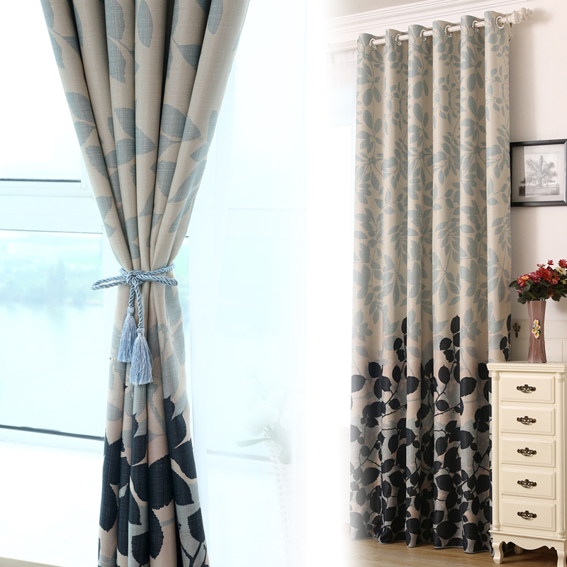 Daily specials] simple IKEA floating curtains living room printed ...