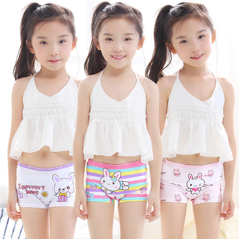 Girls  Panties Mid-Size Cotton Childrens Boxers Shorts Junior Elementary School Kids -4990