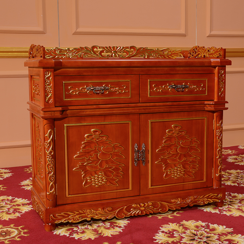 Cabinet Solid Wood Carving