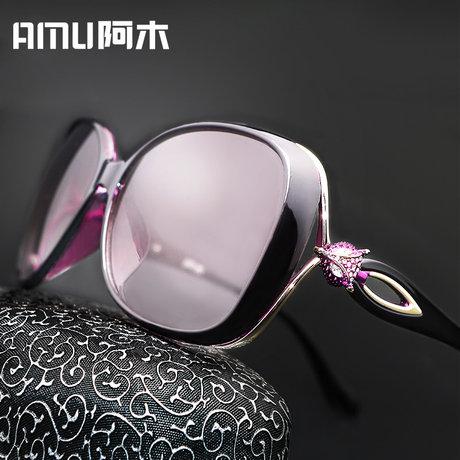 女可定制近视带有度数眼镜女士潮圆脸开车墨镜大框驾驶偏光太阳镜