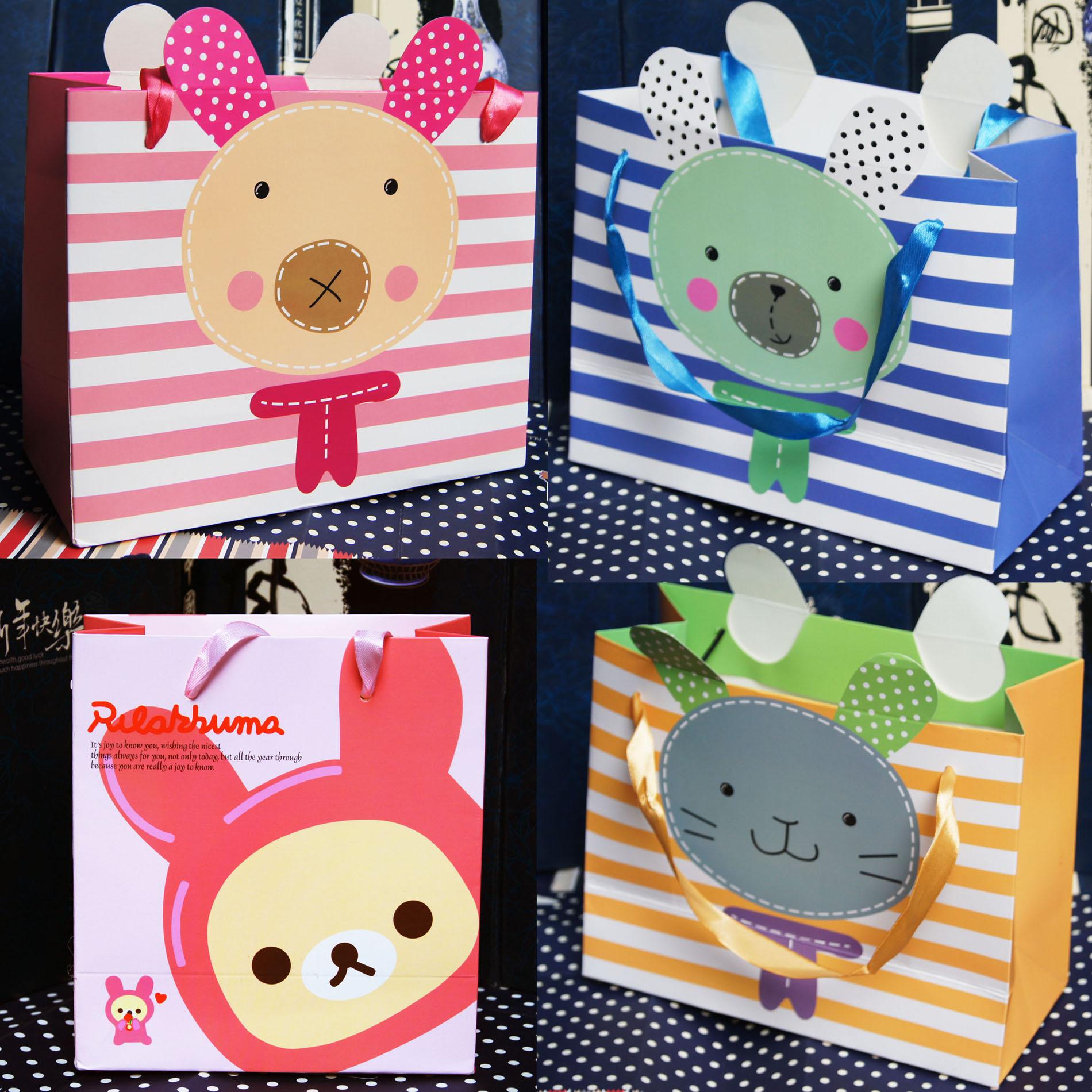 2款可选 特大号纸袋/礼品礼盒袋/手提纸袋/服装购物袋/牛皮纸袋子