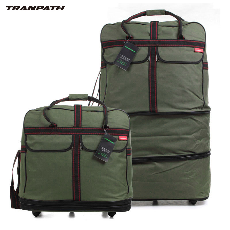 Tranpath Caster 158 Air Shipping Bag Large Capacity Folding Retractable Abroad Luggage Men