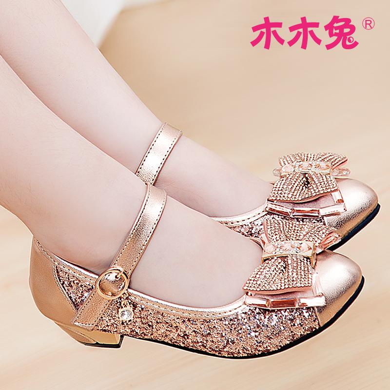女童皮鞋2015新款哈皮安妮童鞋韩版高跟女大童单鞋春秋儿童公主鞋