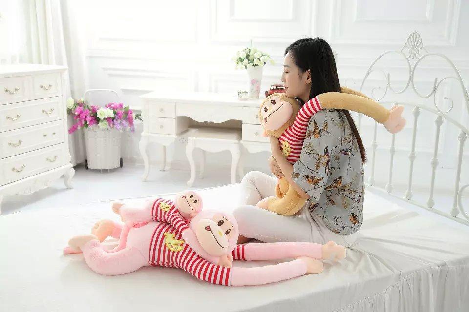 包邮可爱礼品猴长臂猴趴趴睡猴毛绒玩具公仔猩猩布娃娃玩偶情侣