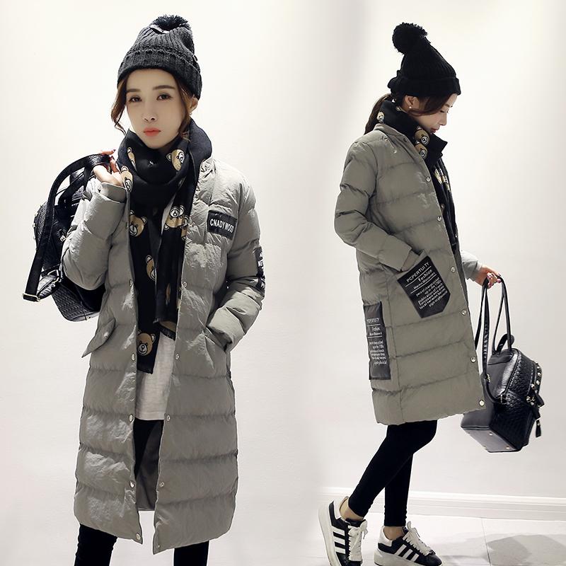 2015新款女装轻薄过膝长款羽绒棉服冬季韩版显瘦巫师帽棉衣外套潮