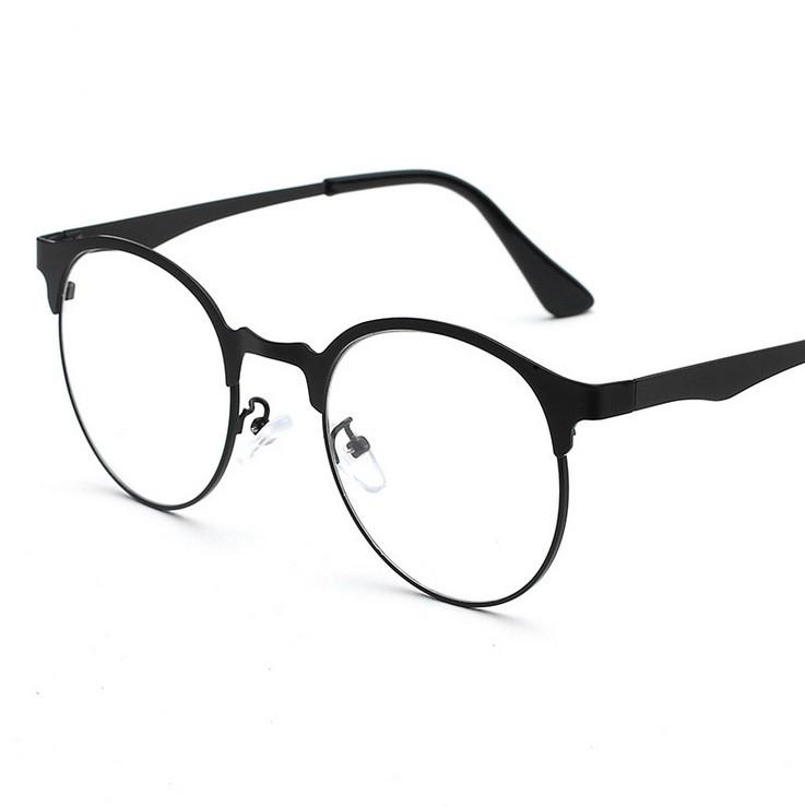 USD 106.98] Retro ultra light myopia glasses frame female full frame ...