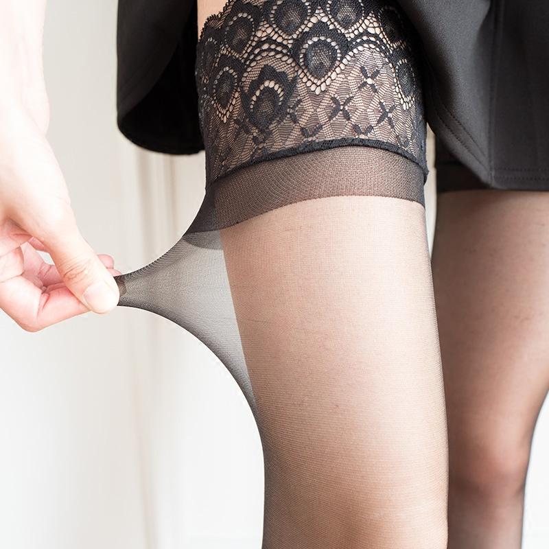Hatsakura Sakura Ren ren đùi đùi Silicone chống trượt Chân đẹp Stockings quyến rũ đùi đùi - Vớ