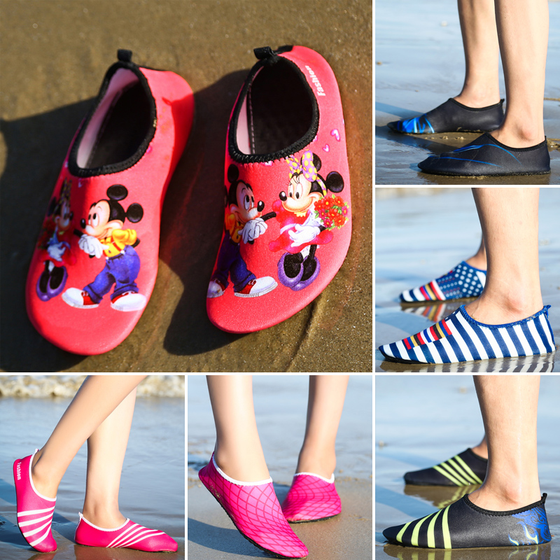 d22686880d45 Children s non-slip diving snorkeling shoes female couple adult beach  swimming shoes male barefoot skin soft shoes treadmill shoes
