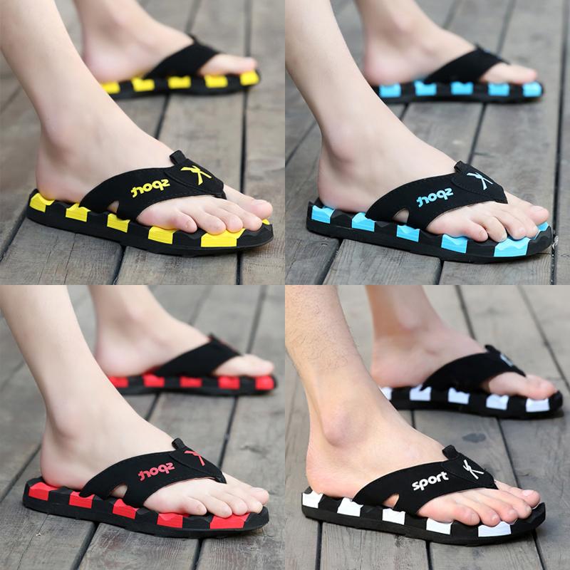 Mùa hè flip flops của nam giới cá tính bên ngoài mặc giày bãi biển mùa hè ngoài trời mềm dưới chống trượt dép và dép nam thời trang
