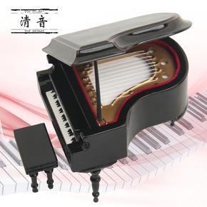 Детское фортепиано,  Борьба работа император мини музыкальные инструменты модель машины треугольник пианино день рождения подарок музыкальная шкатулка шанхай, пекин, тяньцзинь скамья бесплатная доставка, цена 1658 руб