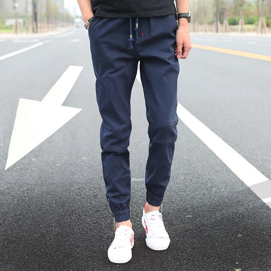 Spring and summer pants male Korean version of the trend of small feet casual pants pants sweatpants men's wild tooling men's pants