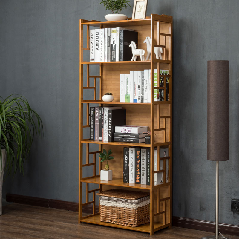 Bookcase Bookshelf Simple Student Table Shelf Combination Modern Minimalist Creative Childrens Small Floor