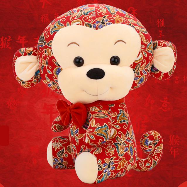 小号鸡猴兔子公仔毛绒玩具婚庆公司活动六一儿童节礼品物抛洒娃娃