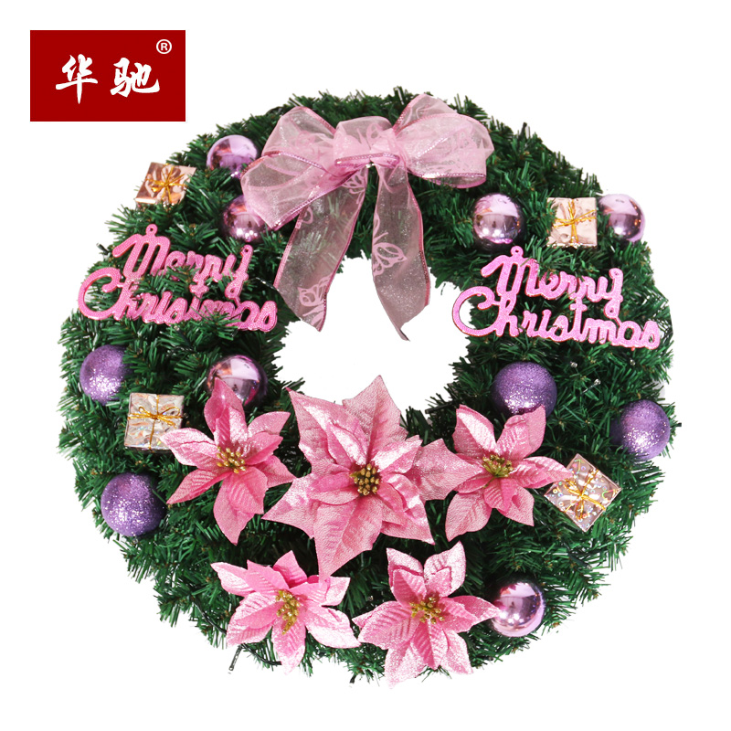 USD 29.82] Christmas decorations Christmas wreath ornaments layout ...