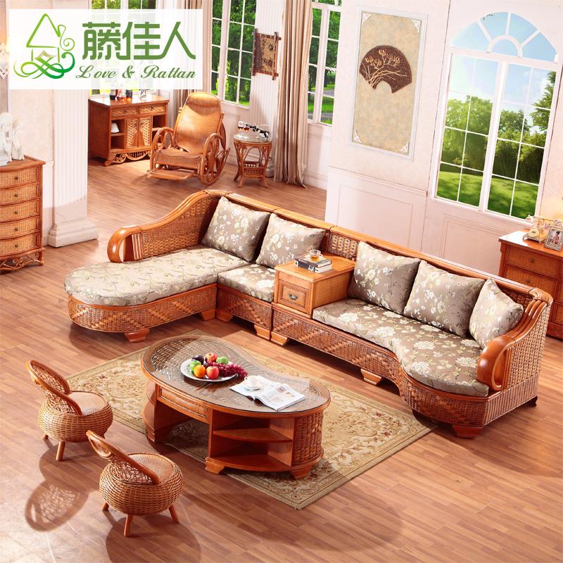 Виноградная лоза красивая женщина виноградная лоза диван пять частей сочетание гостиная виноградная лоза бамбук диван ротанг диван L тип дерево диван YU