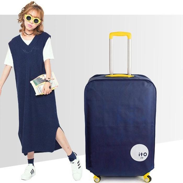 Oxford vải không thấm nước hành lý bìa du lịch kéo hộp bụi che 20/22/24/26/28/30 inch vỏ bọc bảo vệ - Phụ kiện hành lý