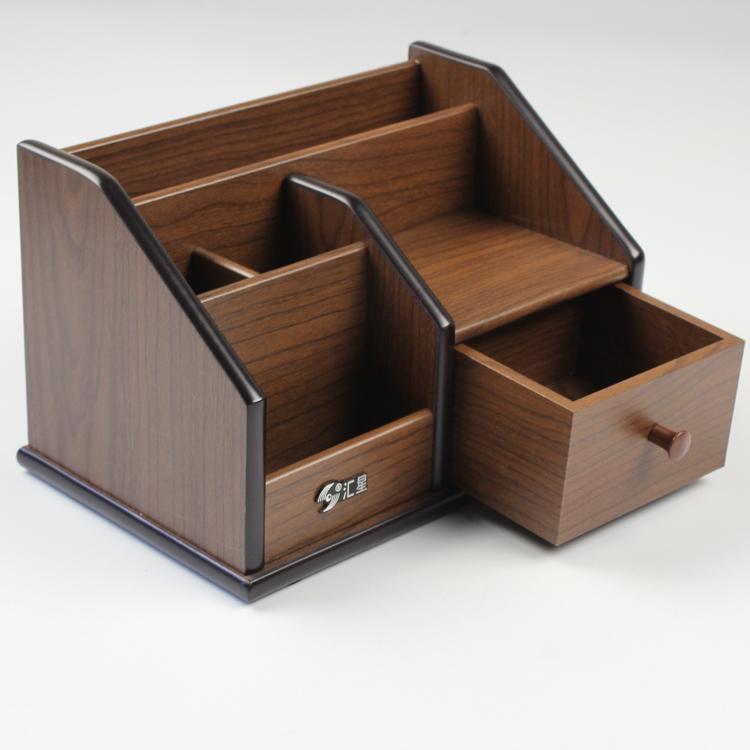 韩国创意木制大号笔筒v木制笔座笔桶木质办公用品实摆件时尚多功能