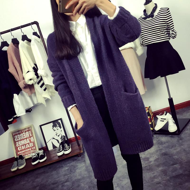 2016新款日韩版羊绒开衫女 v领抽条毛衣小外套短款外搭针织羊毛衫