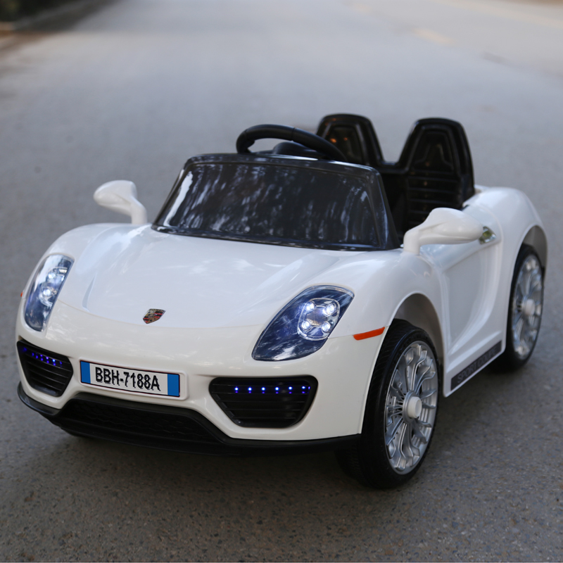 usd porsche electric four wheel car remote dual drive swing for children bassinet baby. Black Bedroom Furniture Sets. Home Design Ideas