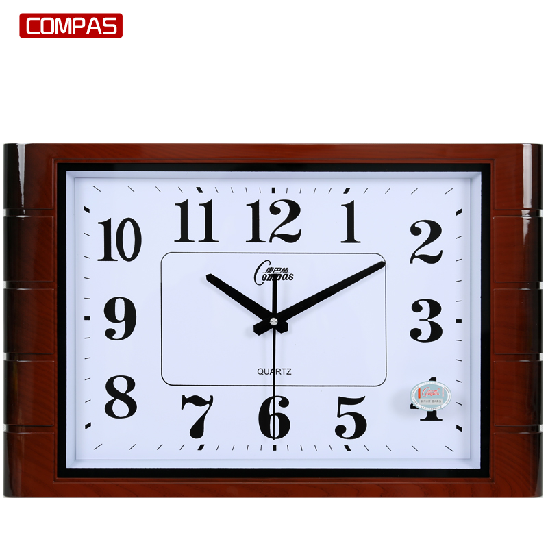 Compas Living Room Wall Clock Bedroom Office Wall Clock Mute Art Clock  Simple Square Fashion Watches