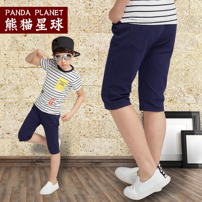 胖男童7分裤夏季短裤儿童装薄款休闲裤加肥加大码中大童牛仔中裤