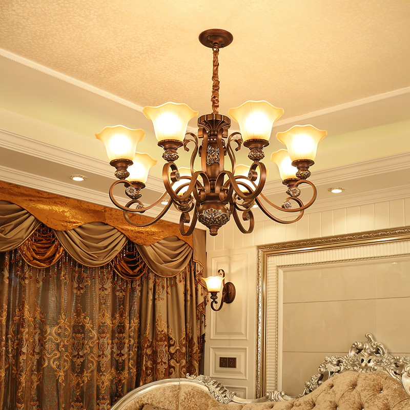 Usd 27218 american chandelier living room light antique american american chandelier living room light antique american retro bedroom wrought iron jane ou countryside luxury dining mozeypictures Images