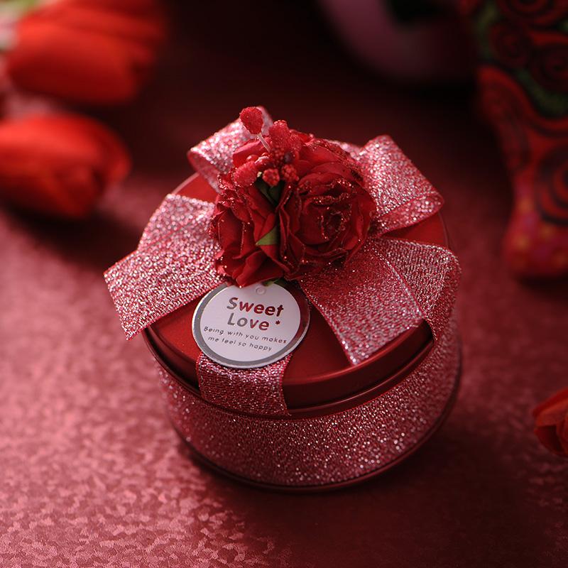 文弘尚品/中国风喜糖盒子创意马口铁/结婚用品婚礼八睫帖礼盒