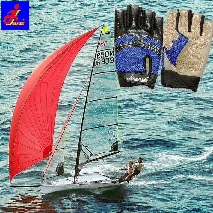 Супер нескользящие навигация перчатки Парусная лодка панель Серфинг воды-дракона верх спортивный нескользящие Скалолазание и длинные пальцы