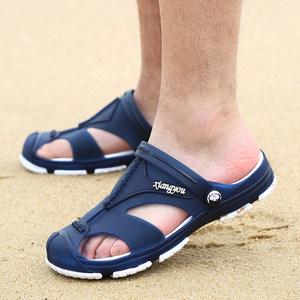 洞洞鞋男士拖鞋夏季透气凉拖厚底防滑沙滩鞋男室外穿夏天韩版凉鞋