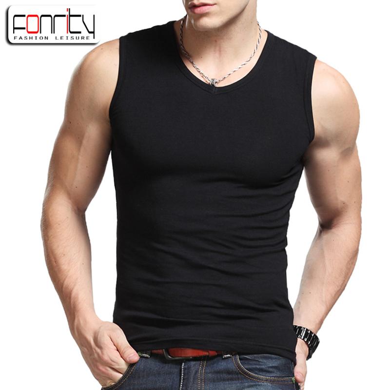 Rộng vai vest nam mùa hè bông bó sát thể dục thể thao stretch Slim không tay vest nam đáy áo triều
