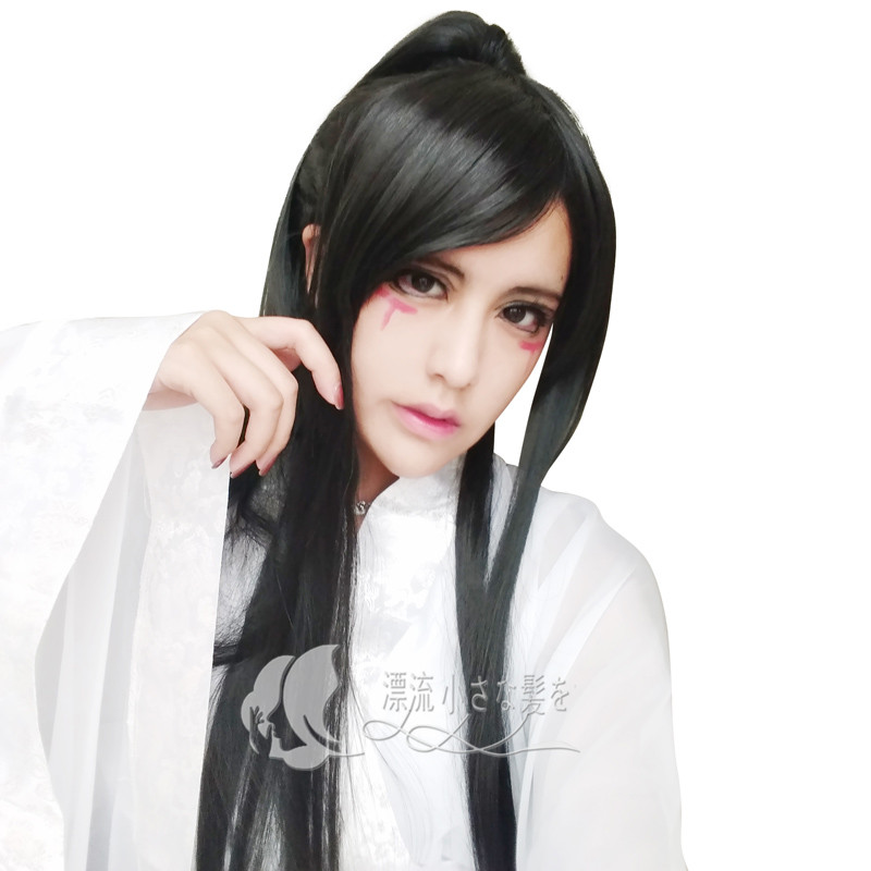 Cosplay Wig sword three base thirty-thousand costumes antique men and women  silver white black 19cbfe61d