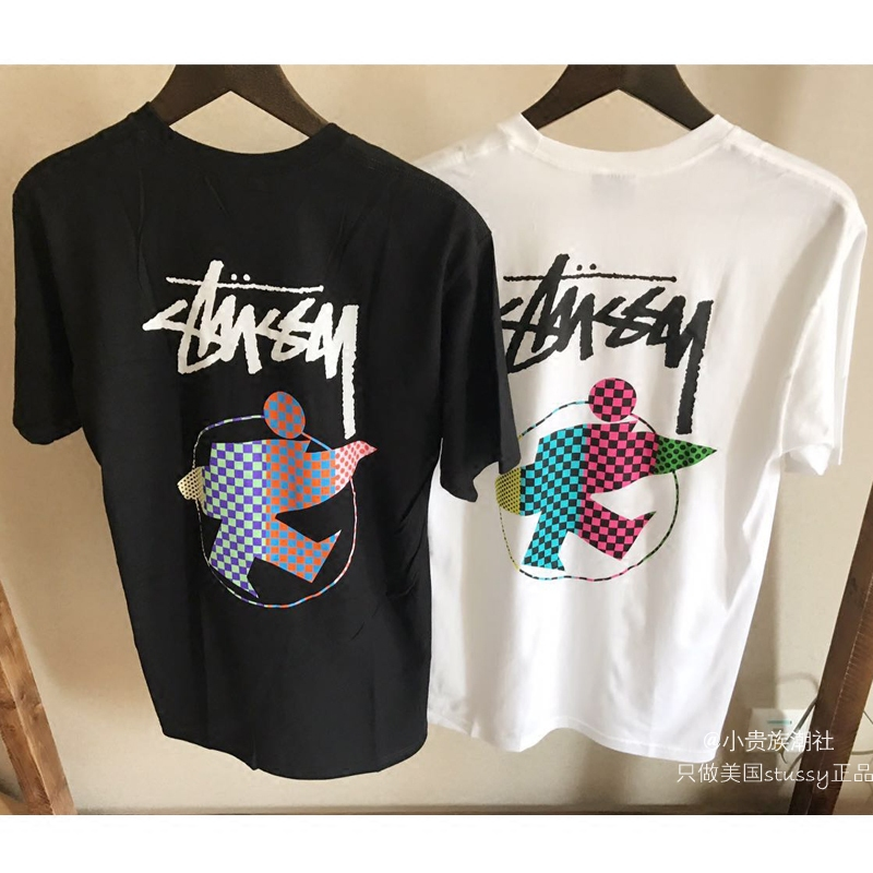 Футболка мужская Stussy Surfman Check T-Shirt Stock