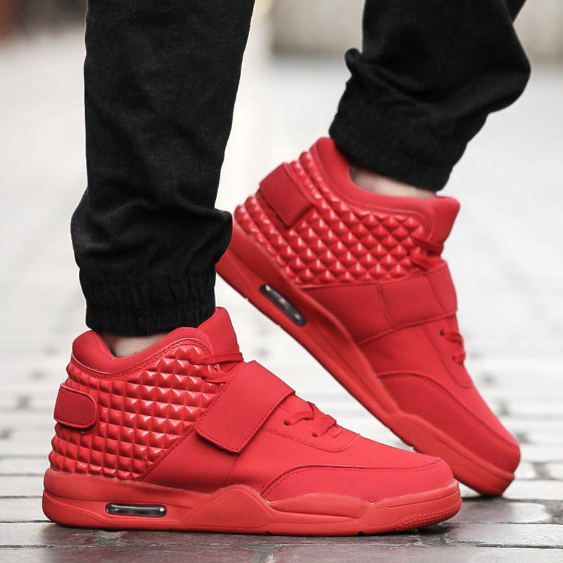 帕特里克patrick mohr小椰子红鞋 时尚真皮潮牌GZ高帮男鞋街舞鞋