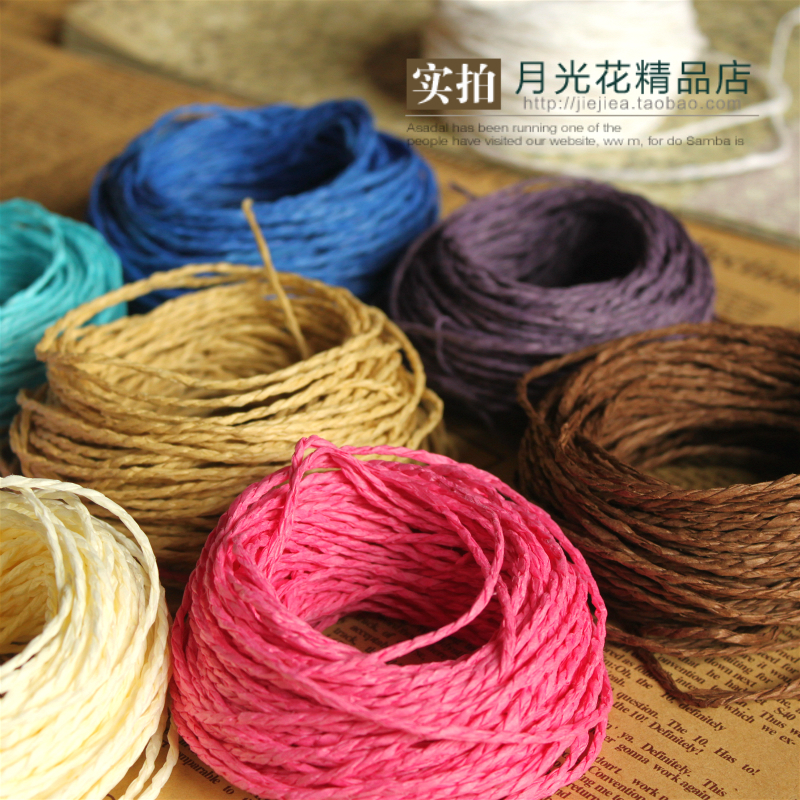 Moonlight flowers colorful gift gift box wrapping paper rope photo wall  hanging decorative hemp rope flowers tie mouth rope rope