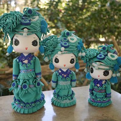 аксессуар Юньнань этнические куклы Рекомендуемые ремесло Кукла украшения, которые Наси творческие подарки украшение