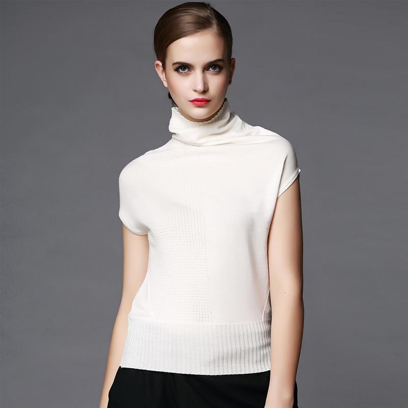 韩版夏季薄款针织t恤衫女蝙蝠短袖套头宽松大码杂色V领上衣打底衫