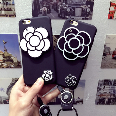 Japan and South Korea Camellia oppo a83 Mirror Phone Case r9 plus All-inclusive Lanyard a77 Cover r11 Scrub