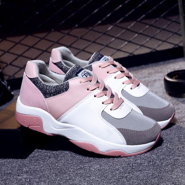 Новая весна модель движение обувной женщина корейский ulzzang бег обувной дикий студент квартира обувь женская обувь casual обувь