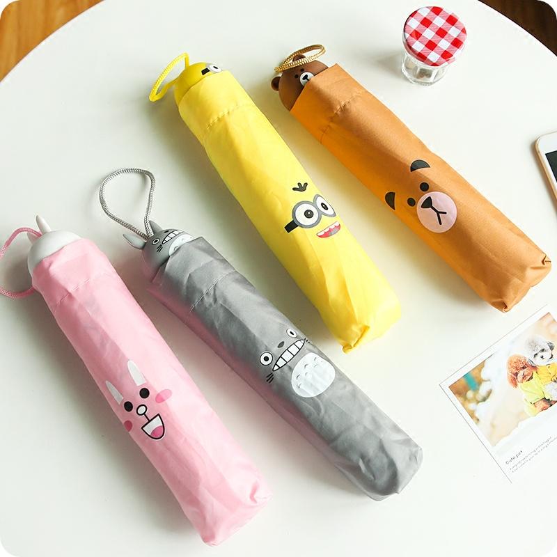 新品加厚透明伞雨伞创意儿童伞男女孩卡通伞宝宝朵拉小学生伞包邮