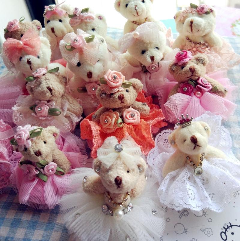 发夹发饰宝宝淑女女童公主头饰发夹水钻可爱头饰蕾丝泰迪熊儿童