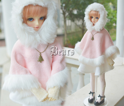 taobao agent ◆Bears◆BJD baby clothes 116 Snow Cherry Cloak Set~4 points removable New fabric 1/4&1/3