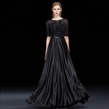 Banquet evening dress dress women 2018 new noble and elegant party annual meeting host conductor performance dress long style