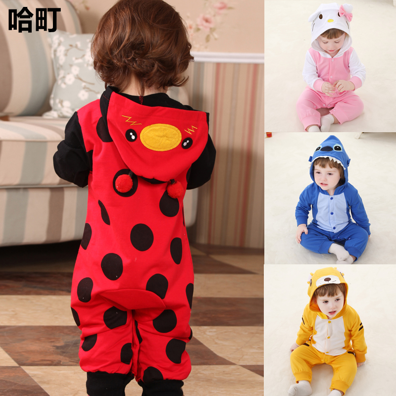 0c0733c51232 USD 81.35  Newborn baby clothes spring 0-1 year old cute animal ...