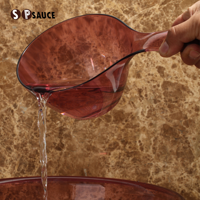 Japan thick water scoop kitchen plastic long handle large water ...