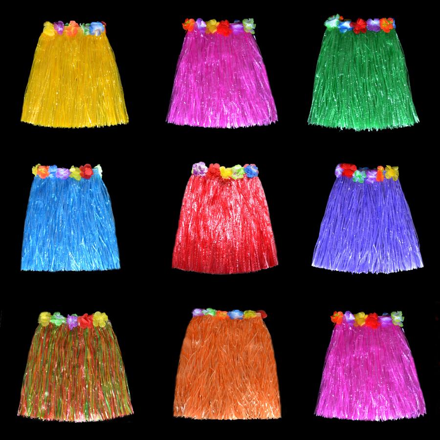 40CM длинные утолщённый слоя ребенок для взрослых все могут гавайи юбки танец одежда ночь может деятельность шесть один сезон праздновать