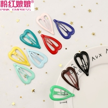 Korean jewelry net red headdress ins hairpin adult BB clip candy color edge clip female top clip banger hairpin clip
