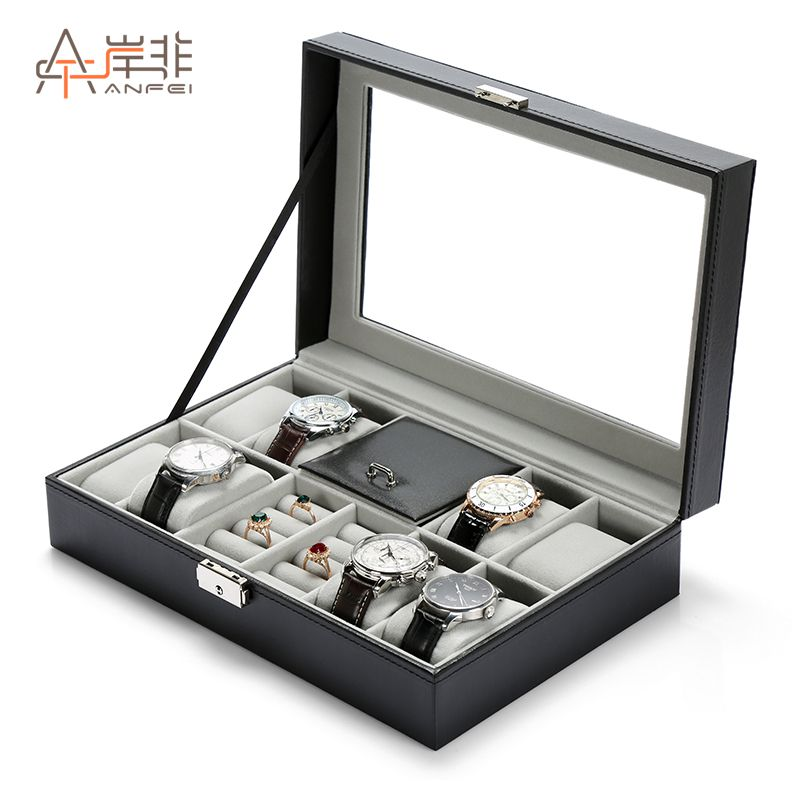 Shore Non Multi Function Watch Storage Box Jewelry Display Box With Lock  Leather Jewelry Box Watch ...