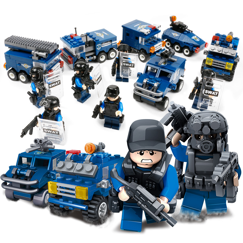 Lego City 6 Police Assembled Building Blocks Childrens Toys 3 Puzzle 5 Gift 8 Years Old