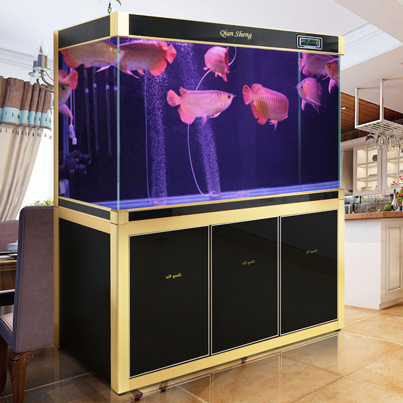 Large Custom Fish Tank Aquarium Filter At The End Of The Living Room Home  Office 1.5 1.8 M White Glass Dragons Fish Tank